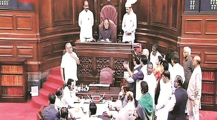 rajya sabha, minority affairs minister, mukhtar abbas naqvi, bjp, cpm, sitaram yechury, national commission for minorities act, rajya sabha news, minority news, mukhtar abbas naqvi news, indian express news