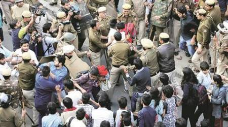 ramjas, ramjas violence, ramjas case, delhi university, ramjas fir, abvp ramjas, umar khalid, ramjas incident, ramjas row, delhi news, indian express news, india news