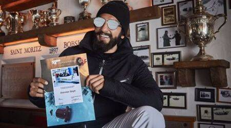 Ranveer Singh, Ranveer Singh in switzerland, ranveer singh adrenaline ride switzerland, ranveer singh vacation pictures Switzerland, ranveer singh vacation with friends,