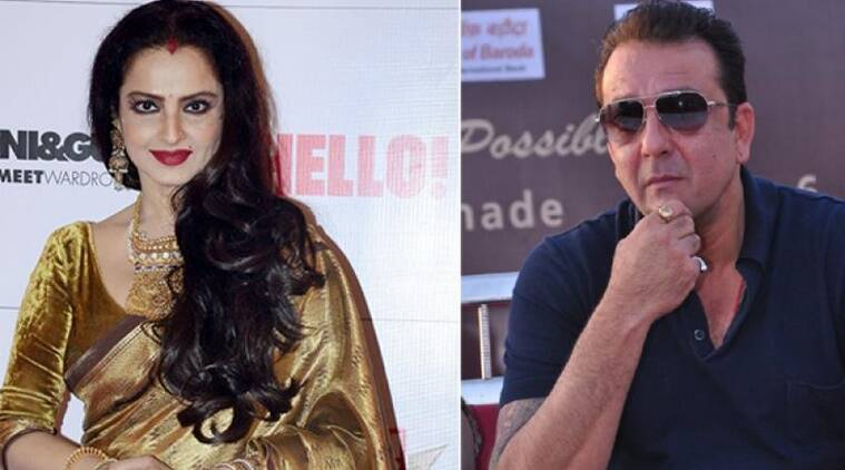 rekha, sanjay dutt, rekha sindoor, rekha vermillian, rekha marriage, rekha amitabh bachchan, sanjay dutt statement, sanjay dutt biopic, sanjay dutt films, rekha films, indian express, entertainment news