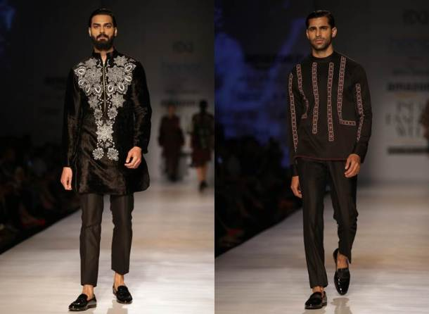 AIFW Autumn/Winter 2017: Vaani Kapoor stuns in all-black as she walks the ramp for Rina Dhaka