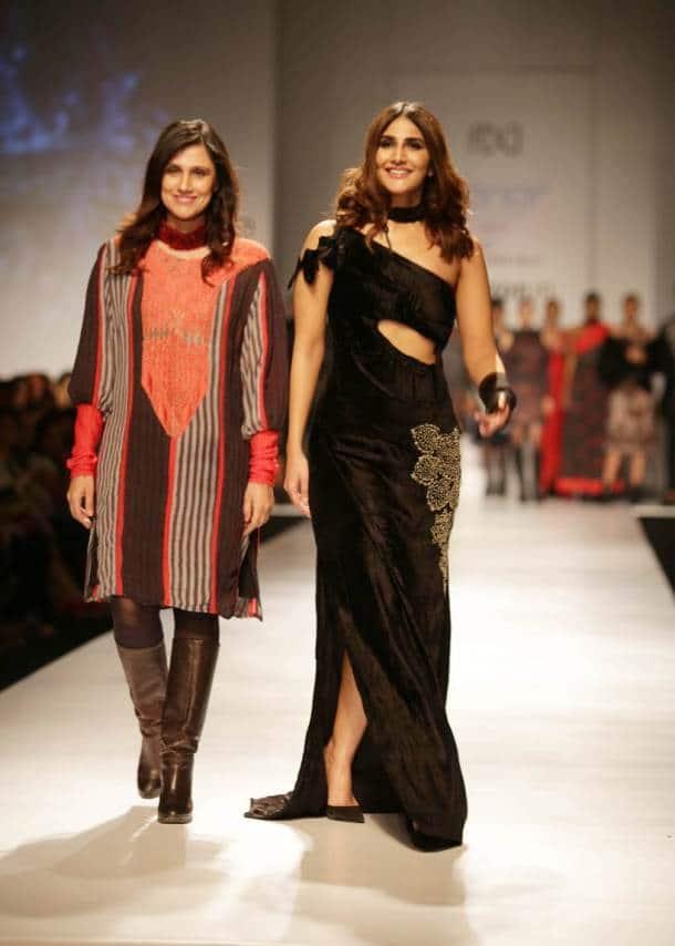 AIFW Autumn/Winter 2017: Vaani Kapoor stuns in all-black as she walks the ramp for Rina Dhaka