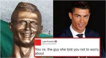Cristiano Ronaldo's new bronze statue has left Twitterati in splits, and there's no stopping the memes