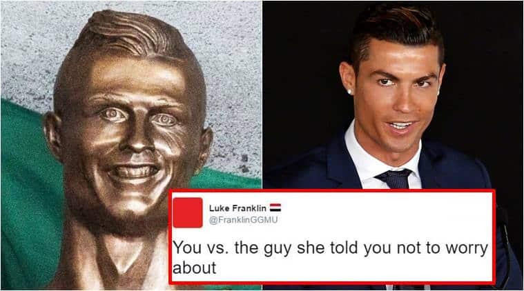 ronaldo bust funny_twitter_759 cristiano ronaldo's new bronze statue has left twitterati in