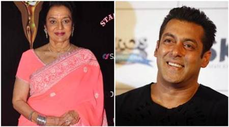 Salman Khan, Salman Khan actor, Salman Khan news, Asha Parekh, Asha Parekh actor, Asha Parekh news, Asha Parekh autobiography, Asha Parekh salman khan, salman khan Asha Parekh, entertainment news, indian express, indian express news