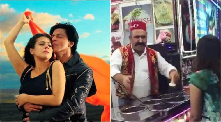 shah rukh khan, shah rukh khan ice cream vendor obsession, shah rukh khan gerua, shah rukh khan kajol gerua,