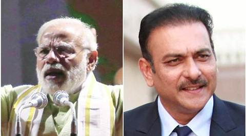 Ravi Shastri congratulates Narendra Modi in his own inimitable way, gets an even better response from the PM