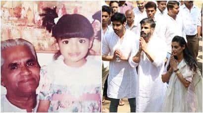 suniel shetty, Athiya Shetty, Athiya Shetty post, Athiya Shetty grandfather, sunil sheety father funeral, sunil sheety father funeral pics