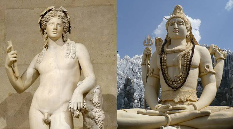 Similarities between Greek and Indian mythology, in the eyes