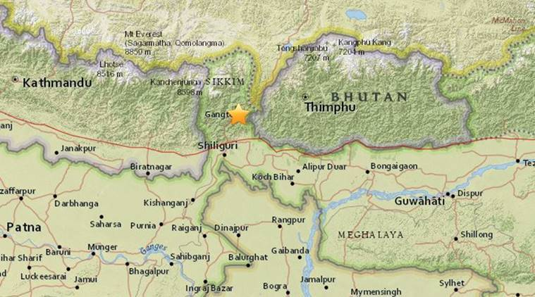 Sikkim Standoff US Avoids Commenting On IndiaChina Border Issue - India and us on a map