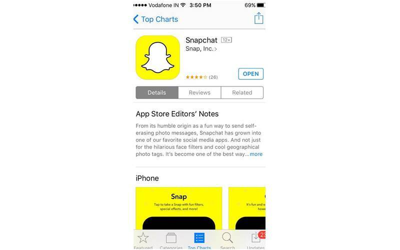 Snapchat, Apple App Store, Snapchat app, Snapchat most searched app, top app App Store, Instagram, Facebook app, YouTube, Google, apps, smartphones, technology, technology news