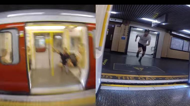 viral video, viral videos, youtube videos, hit videos, must watch videos, man race tube, man running against a tube, indian express, indian express news