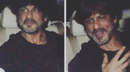 shah rukh khan, shah rukh khan photographer, shah rukh khan car photgrapher, shahrukh khan car photographer leg, shah rukh khan alia bhatt birthday party, alia bhatt birthday party