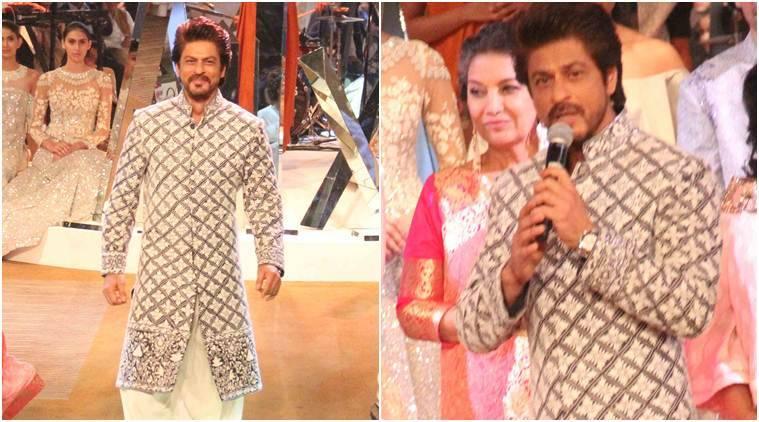 Shah Rukh Khan, who walked the ramp for Manish Malhotra at the Mijwan charity fashion show in the evening, was asked to express his thoughts on the big news about Karan Johar.