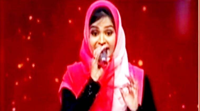 muslim girl trolled for hindu song, suhana sayeed, suhana sayed, suhana sayeed trolled, sa re ga ma pa, muslim girl trolled singing, muslim girl sings hindu song, indian express, indian express news