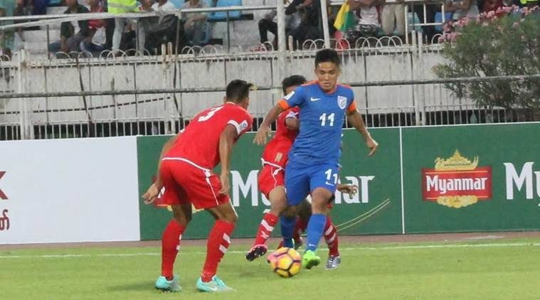 indian football, india vs myanmar, india myanmar football, india myanmar score, afc asian cup qualifiers, afc asian cup qualifying, football news, sports news, indian express
