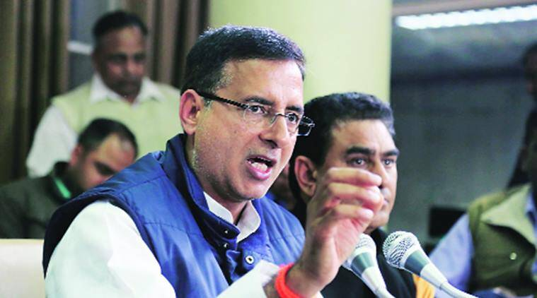 unjab polls results, SYL issue, INLD on SYL issue, Sutlej-Yamuna Link, Punjab election results, INLD leader Abhay Singh Chautala, Randeep Singh Surjewala, INLD attacks Randip Surjewala, indian express news