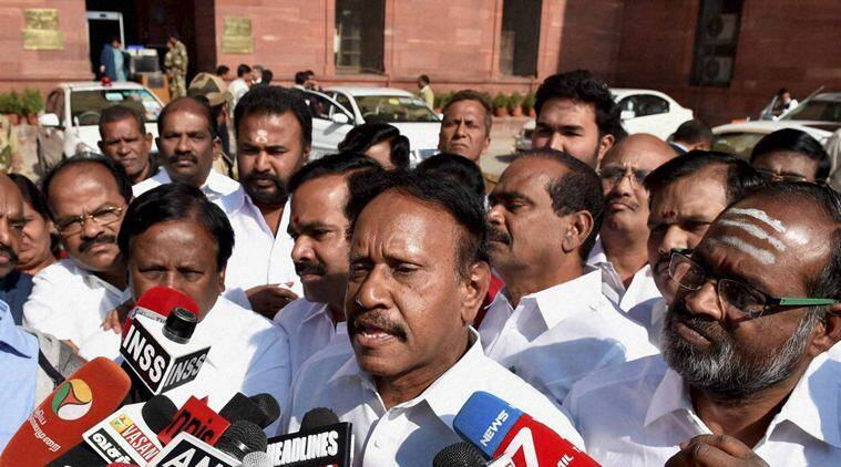 AIADMK, Thambidurai, Cauvery issue, no-trust motion in Parliament, no-trust motion against centre, india news, indian express news