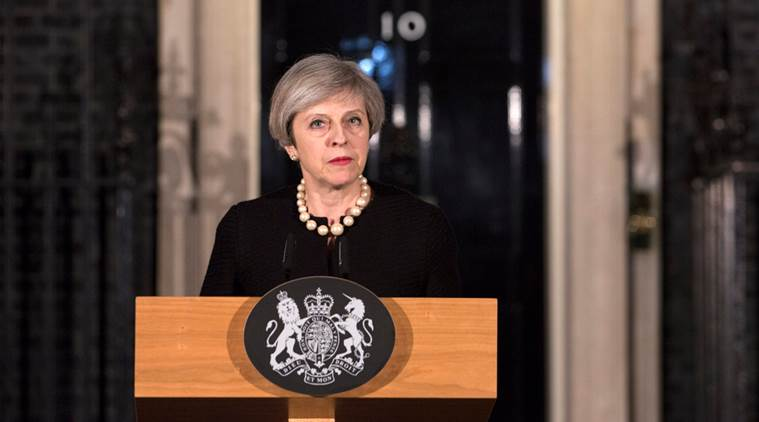 Westminster attack, westminster terror attack, london terror attack, london attack, british parliament attack, Theresa may escape, Theresa May, British prime minister, British PM, world news, indian express news