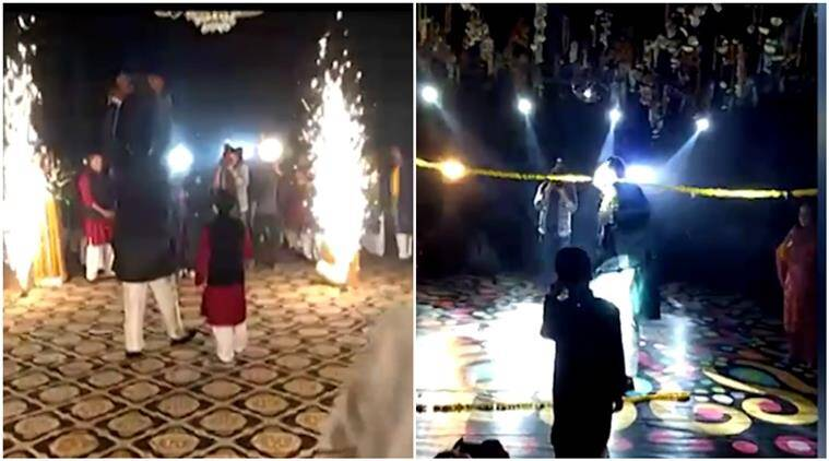 triple h, triple h wedding entry, triple h entry, triple h entry style, triple h wedding entry video, triple h entry video, kichoo ahmer video, kichoo ahmer triple h, indian express, indian express news