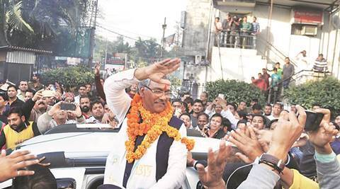 trivendra singh rawat, uttarakhand cm, new uttarakhand cm, trivendra singh rawat uttarakhand, uttarakhand cm swearing-in, Uttarakhand chief minister, uttarakhand cm trivendra singh rawat, BJP uttarakhand, Uttarakhand elections, Uttarakhand election results 2017, india news, indian express news