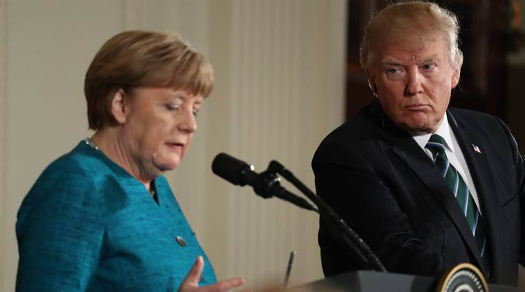 angela merkel, donald trump, germany elections, germany polls, trump and merkel, iran, us iran, world news, indian express news