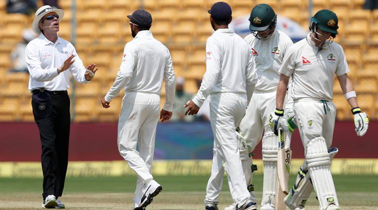 india vs australia, ind vs aus, india vs australia 2nd test, ind vs aus bangalore test, bangalore test, virat kohli, drs, drs cheating steve smith, cricket news, cricket