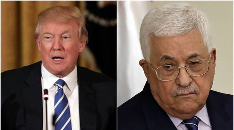donald trump, Mahmoud Abbas, trump abbas talk, abbas trump phone call, Palestinian President, US president, Benjamin Netanyahu, indian express news, world news