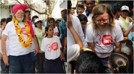 british man walking for charity, british walks in india for charity, man walks from kanyakumari to kolkata, man raises charity, indian express, indian express news