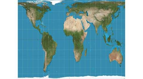 map projections, boston public school map, south up maps, mercator projection world map, world map gall peters projection, world map projections, world map south up, map north orientation, decolonising maps, mercator gall peters projections, world map equal area wise, cartographic projections, cartographic accuracy, world map politically correct, world map distortion, boston public school map change, map politics world, map perspective shift, indian express