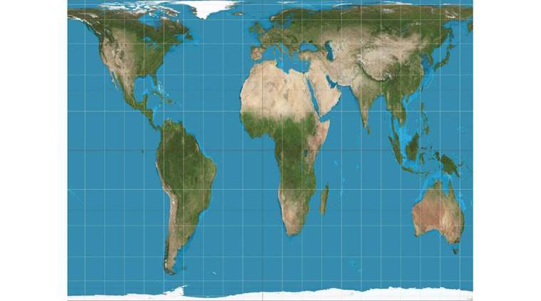 From mercators to gall peters projections how the world maps vary map projections boston public school map south up maps mercator projection world map gumiabroncs Choice Image