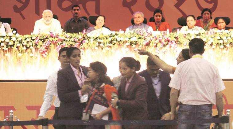 PM Narendra Modi presents Swachh Shakti Awards 2017 to women sarpanch