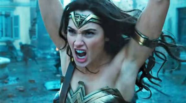 gal gadot, wonder woman, gal gadot armpit photoshopped, gal gadot photoshopped armpit, gal gadot photoshopped armpit in wonder woman trailer