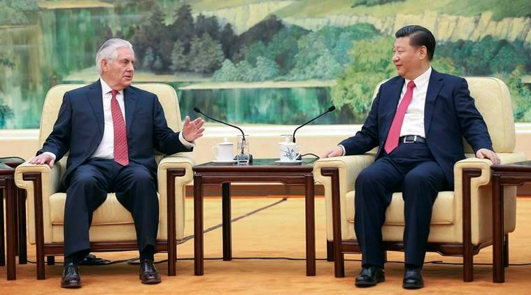 xi jinping, rex tillerson, us china ties, us china relations, us china, donald trump, chinese president xi jinping, rex tillerson, us secretary of state rex tillerson, us news, china news, world news, indian express