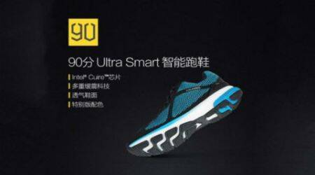 90 Minutes Ultra Smart Sports Wear, Xiaomi smart shoes, '90 Minutes Ultra Smart Sports Wear smart shoes, Mijia crowd funding. Xiaomi Mijia, Intel Curie, technology, technology news