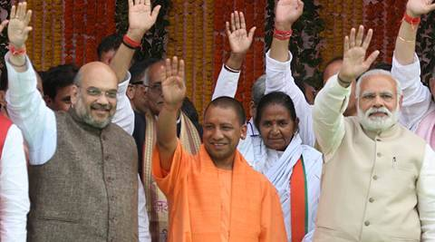 Uttar Pradesh Chief Minister Yogi Adityanath tries to fit into BJP's development narrative