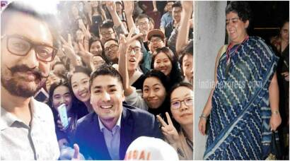 Aamir Khan promotes Dangal in China as first wife Reena enjoys a good time with his family back home