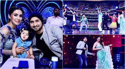 Nach Baliye 8 meets IPL 2017: When Harbhajan Singh, daughter Hinaya clean bowled Sonakshi Sinha