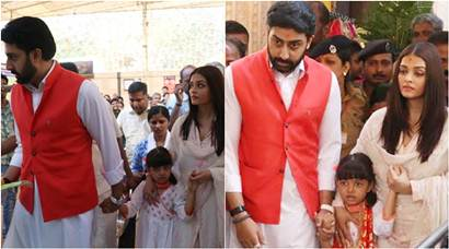 Aishwarya Rai Bachchan, Abhishek visit Siddhivinayak temple with Aaradhya on wedding anniversary