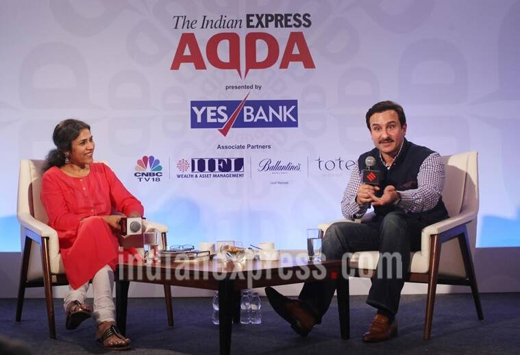 saif ali khan, saif ali khan express adda, saif ali khan at express adda, saif ali khan pics, saif ali khan images, express adda, saif ali khan bollywood actor, saif ali khan news, saif ali khan latest updates, bollywood news, entertainment updates, indian express