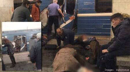 VIDEO: At least 10 dead as blast rips through St Petersburg metro station inRussia