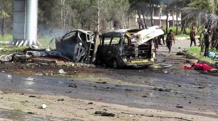 syria, syria evacuation, syria blast evacuation, syria explosion, syria death toll, syria latest, evacuee bus blast, syria bus blast, syria evacuee convoy blast, syria news, indian express news