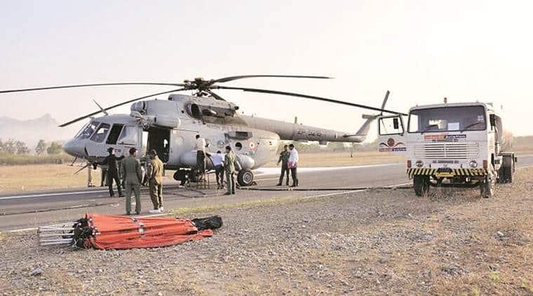 Mount Abu, Rajasthan Mount Abu, Mount Abu fire, IAF Mount Abu, fire tenders Mount Abu, India news, Indian Express