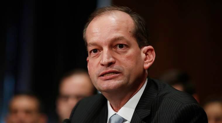 Alexander Acosta, Trump cabinet hispanic, Acosta labour department, labour department head, US Senate confirms Acosta, Acosta nominated to Labour dept, World news, Indian Express