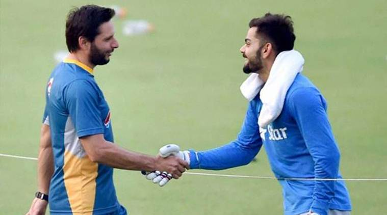 Shahid Afridi, Afridi, Virat Kohli, Kohli, Pakistan cricket, India cricket, Pakistan vs India, India vs Pakistan, Cricket news, Cricket, Sports news, Sports, Indian Express