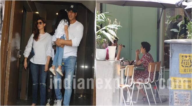 Akshay Kumar's day-out with wife Twinkle Khanna and daughter Nitara, Sanya Malhotra spotted with a mystery guy