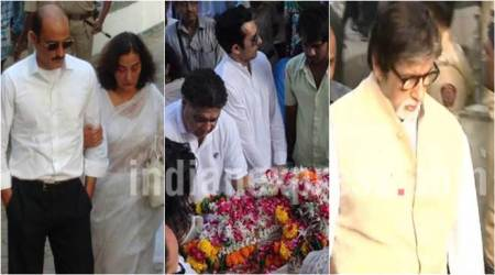 Vinod Khanna funeral: Amitabh Bachchan, Rishi Kapoor pay their last respects