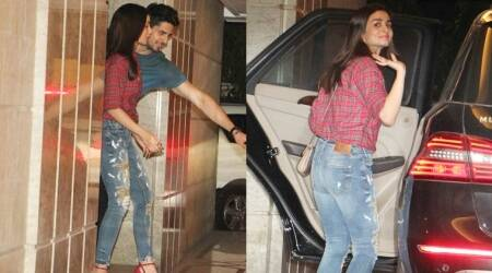 Alia Bhatt rocked an embroidered denim at Priyanka Chopra's party and how!