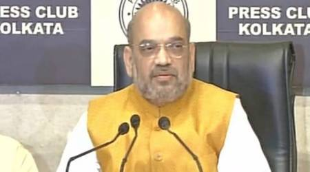 BJP President Amit Shah Adresses Media At Kolkata Press Club