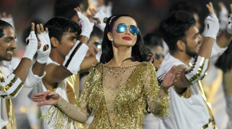 Image result for amy jackson  in ipl 10